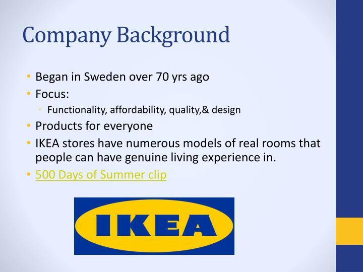 ikea background Ikea international a/s - company profile, information, business description,  history, background information on ikea international a/s.