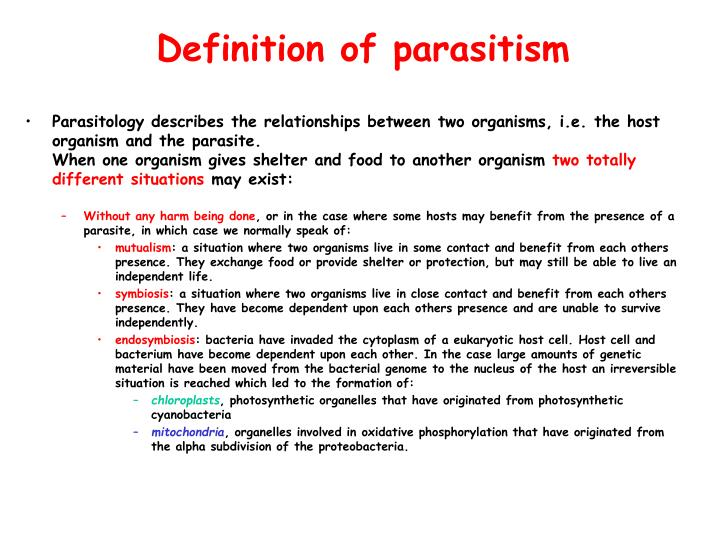 Definition of parasitism