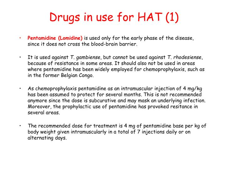 Drugs in use for HAT (1)