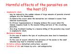harmful effects of the parasites on the host 2
