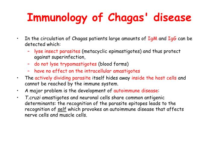 Immunology of Chagas' disease