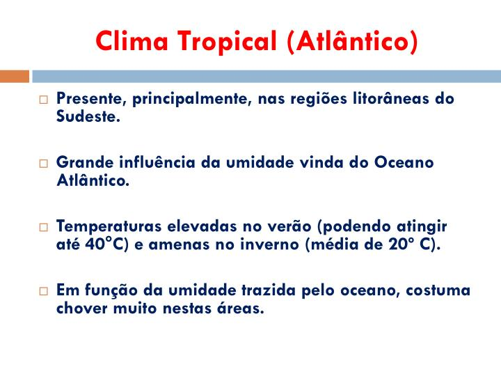Clima Tropical (Atlântico)