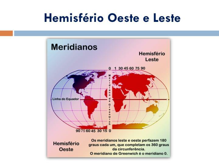 Hemisfério Oeste e Leste