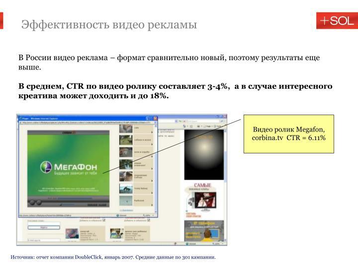 Эффективность видео рекламы