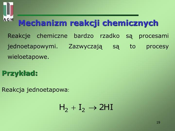 Mechanizm reakcji chemicznych