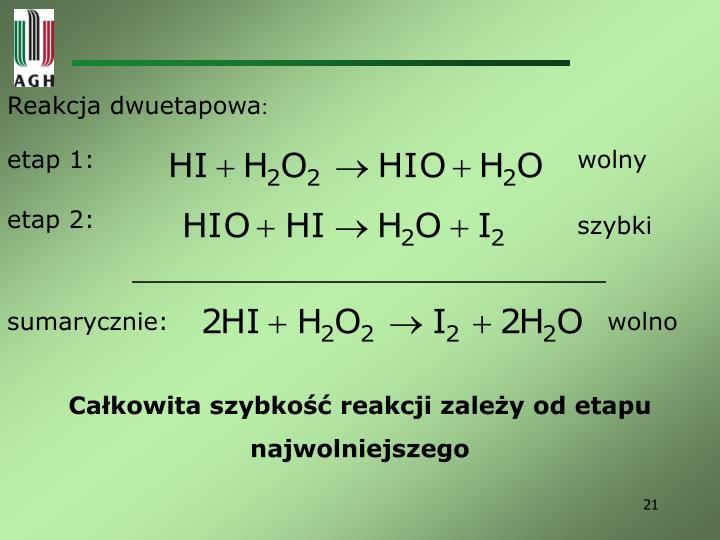 Reakcja dwuetapowa