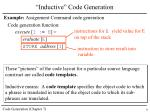 inductive code generation1