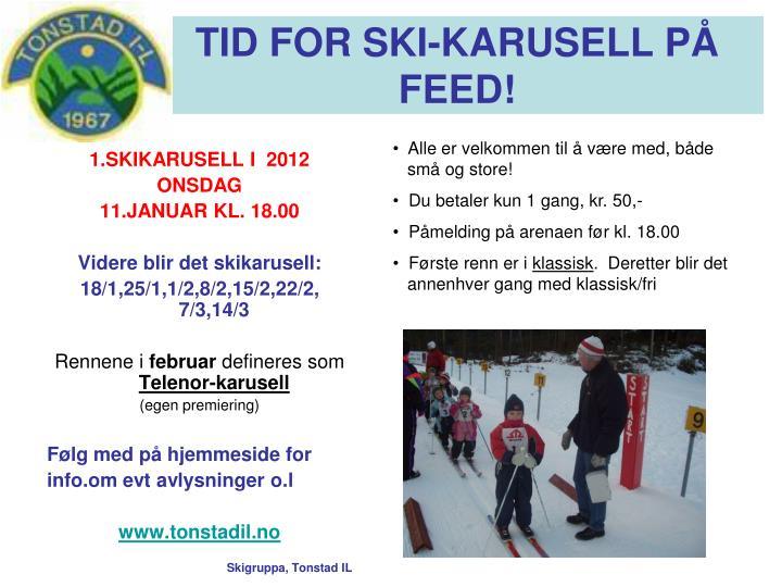 Tid for ski karusell p feed