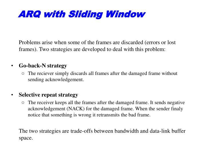 ARQ with Sliding Window