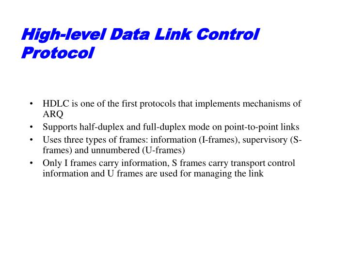 High-level Data Link Control Protocol