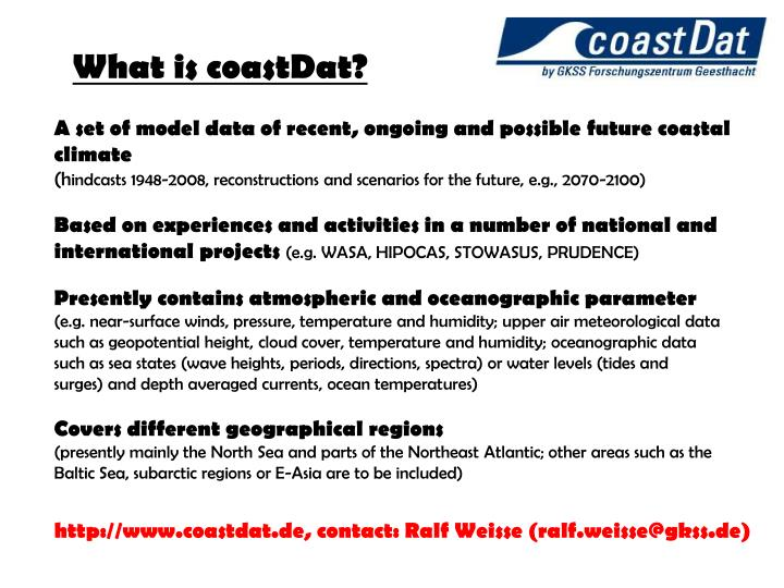 What is coastDat?