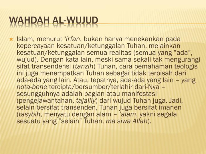Islam, menurut