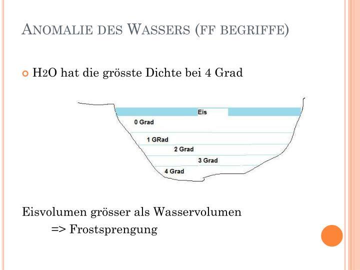Anomalie des Wassers (ff begriffe)