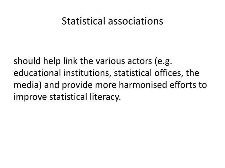 Statistical associations