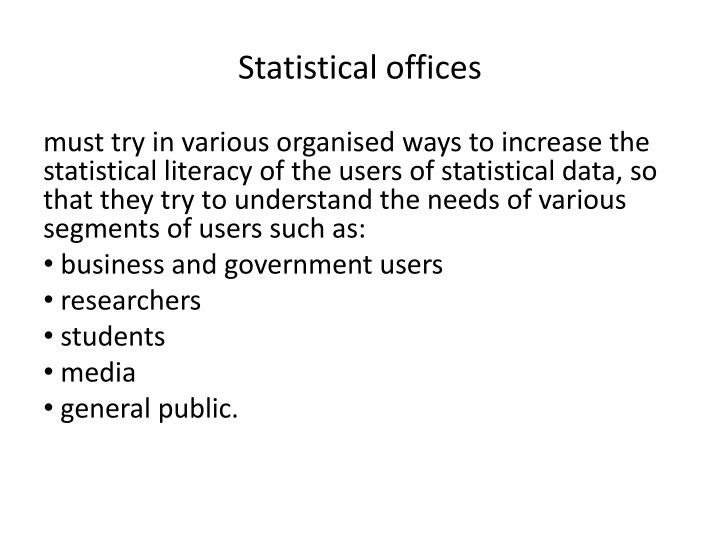 Statistical offices