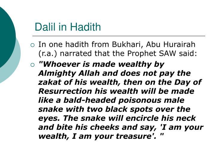 Dalil in Hadith