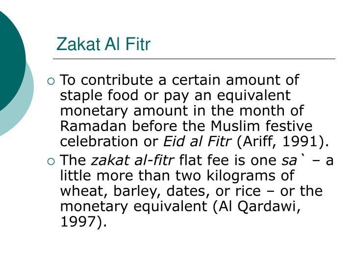Zakat Al Fitr