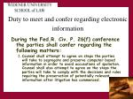 duty to meet and confer regarding electronic information