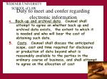 duty to meet and confer regarding electronic information2