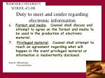 duty to meet and confer regarding electronic information3