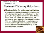 electronic discovery guidelines