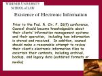 existence of electronic information