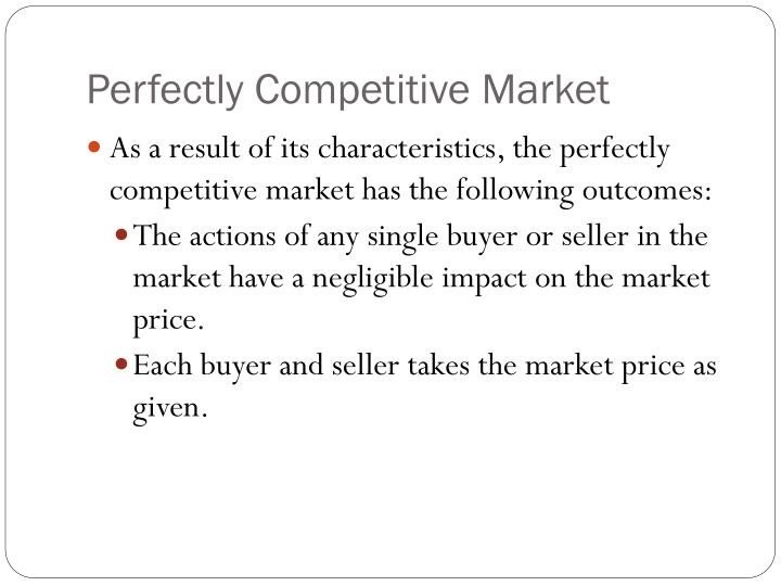 Perfectly Competitive Market