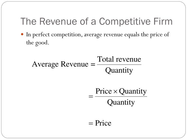 The Revenue of a Competitive Firm