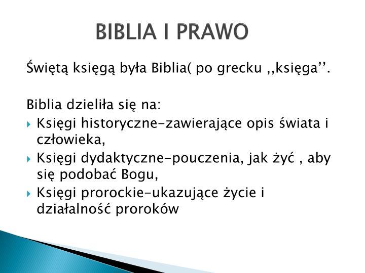 BIBLIA I PRAWO
