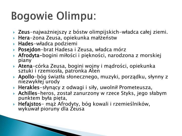 Bogowie Olimpu: