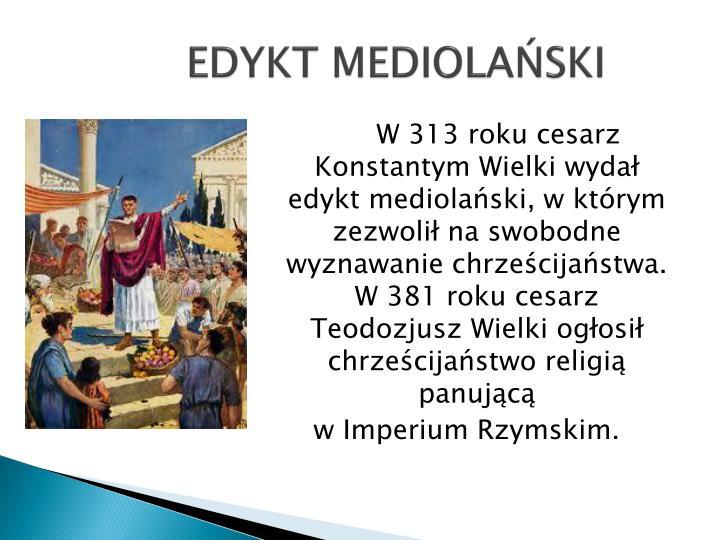 EDYKT MEDIOLAŃSKI