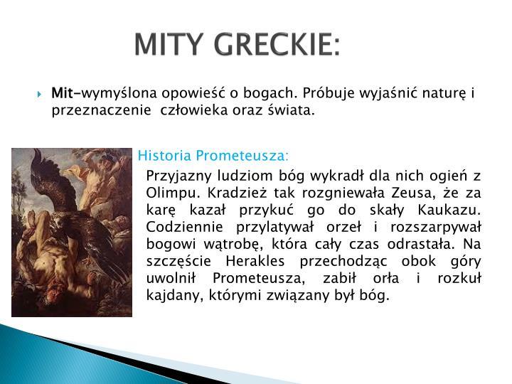 MITY GRECKIE: