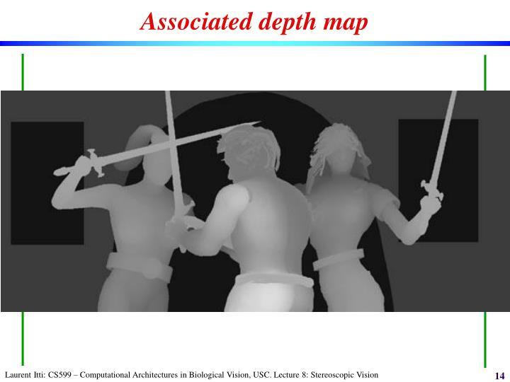Associated depth map