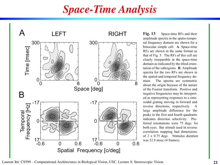 Space-Time Analysis