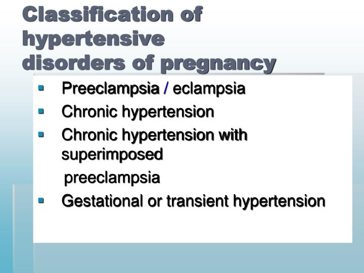 Classification of hypertensive