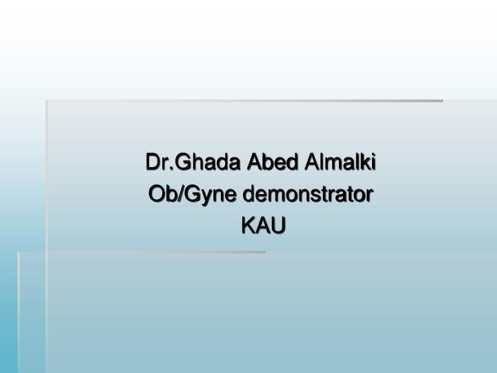 Dr.Ghada