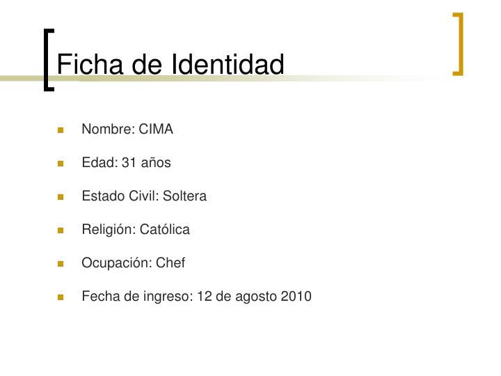 Ficha de Identidad