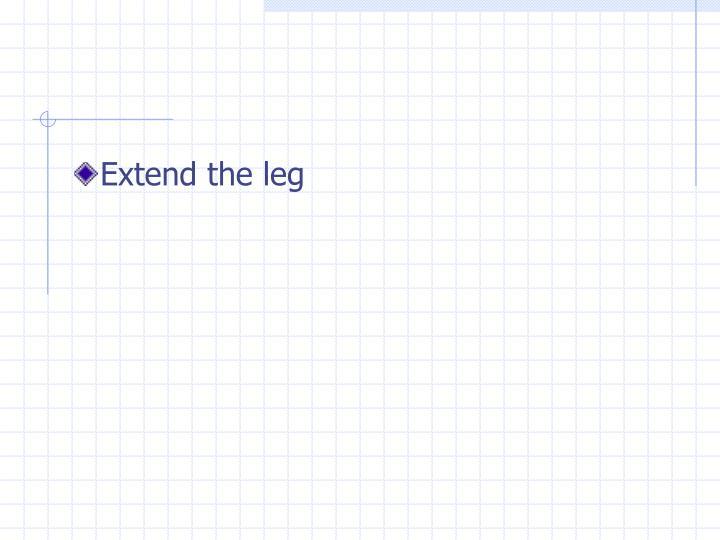Extend the leg