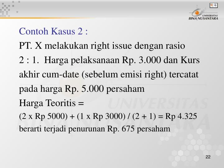 Contoh Kasus 2 :