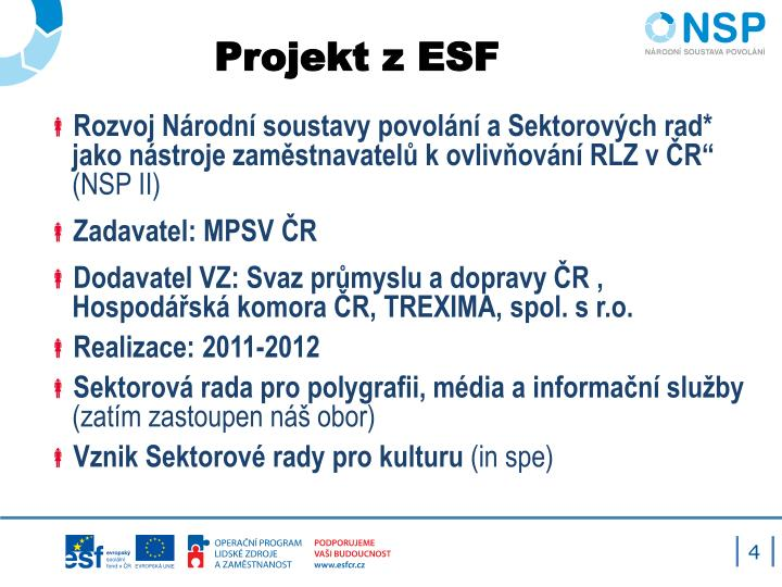 Projekt z ESF