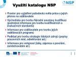 vyu it katalogu nsp