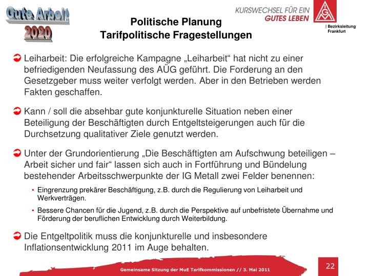 Politische Planung