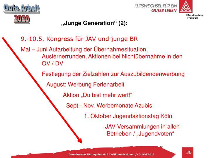 """""""Junge Generation"""" (2):"""
