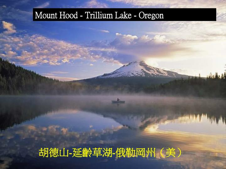 Mount Hood - Trillium Lake - Oregon