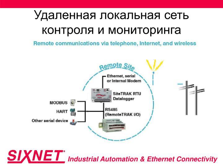 Удаленная локальная сеть контроля и мониторинга