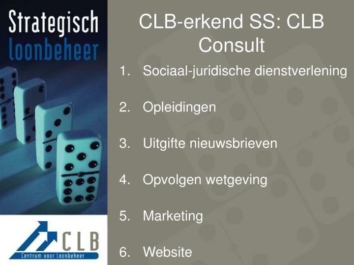 CLB-erkend SS: CLB Consult