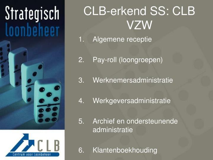 CLB-erkend SS: CLB VZW