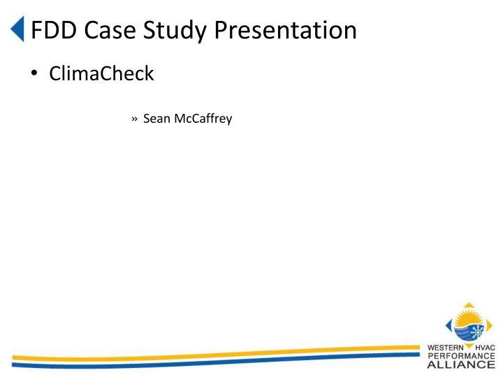 FDD Case Study Presentation
