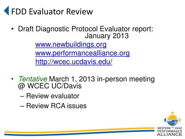 FDD Evaluator Review