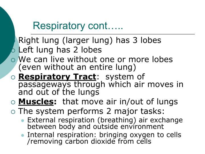 Respiratory cont…..
